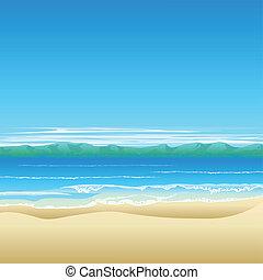 Tropische Strand-Hintergrund-Illustration