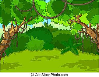 Tropische Waldlandschaft