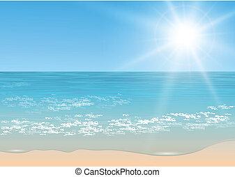 tropisches Meer.