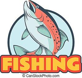 Troutfischen Banner.