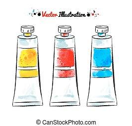 tubes., farbe