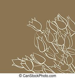 tulpen, hintergrund, blumen-