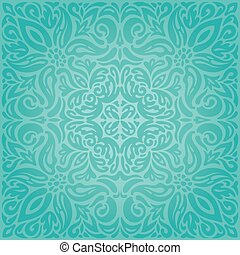 Turquoise Floral Urlaub Vintage Hintergrund Hintergrund Hintergrund Hintergrund Hintergrund Hintergrund grünes Design Mandala Design.