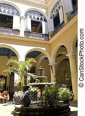 Typischer Hof. Kuba