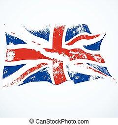 UK Grunge Flagge.