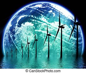 Umwelttechnologie der Erde.