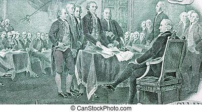Unabhängigkeitserklärung vom Zwei-Dollar-Schein