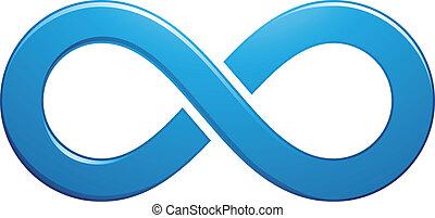 Unendliches Symboldesign.