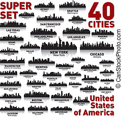 Unglaubliche Skyline der Stadt. Vereinigte Staaten von Amerika.