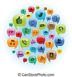 Unterhaltung über soziale Netzwerke