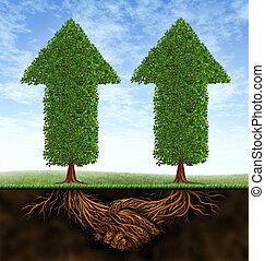 Unternehmenspartnerschaftswachstum