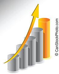 Unternehmenswachstum Illustrationsdesign