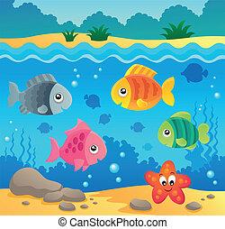 Unterwasser Ozean Fauna Thema 2.