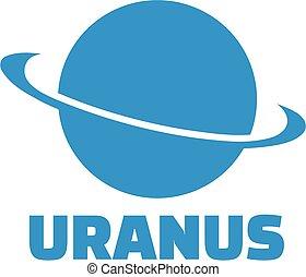 Uranus Planet Ikone.