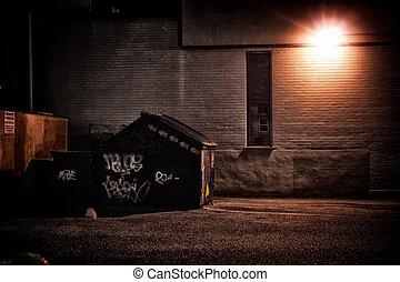 Urban Gasse in der Nacht