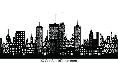 Urban Skyline einer Stadt.
