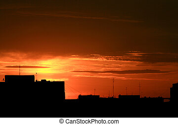 Urban Sonnenuntergang