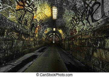 Urbaner Untergrundtunnel