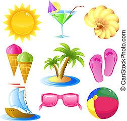 Urlaub und Reise-Icon-Set