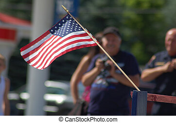 US-Flagge in Parade