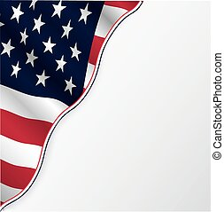 USA-Flagge mit Kopierraum.