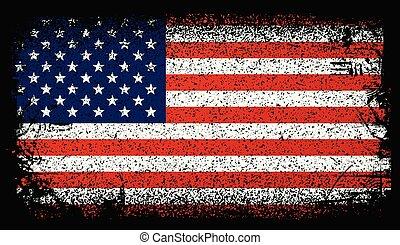 Usa grunge Flagge, Vereinigte Staaten Flagge. Vector Hintergrundbild