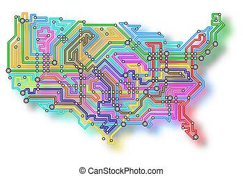 USA Untergrundkarte