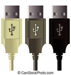 USB-Kabel.