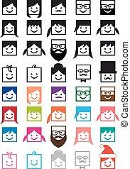 User avatars vektor people Icon gesetzt.