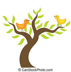 Vögel auf Baum