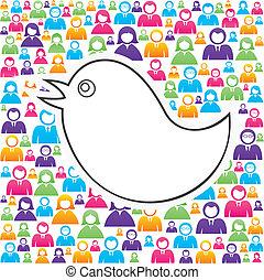 Vögel mit Menschen