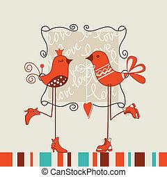 Vögel romantisches Date