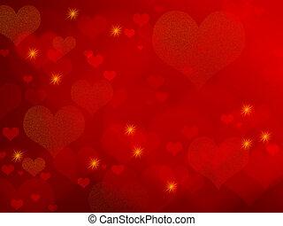 Valentine Hintergrund - rote Herzen
