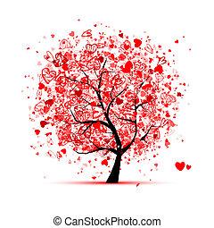 Valentinsbaum mit Herz für dein Design