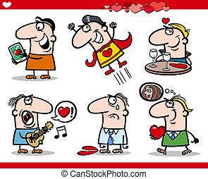 Valentinstagsthemen sind Zeichentrick-Illustration