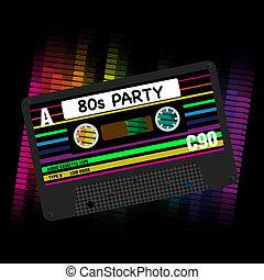 Vector 80s Party Hintergrund.