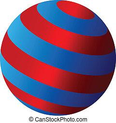 Vector abstrakter Globus