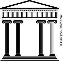 Vector antike griechische Architektur