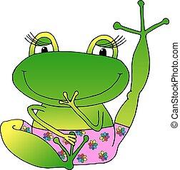 Vector Bild fröhlich grünen Frosch.