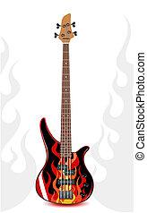 Vector Black Bass Gitarre