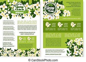 Vector Blumen Design für Frühlingszeitplakate