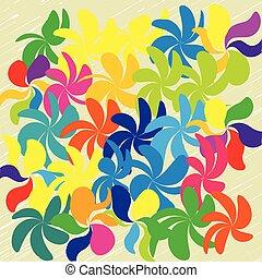 Vector-Blumen Hintergrund.
