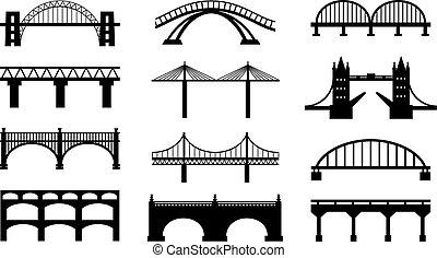Vector Bridges Silhouetten Ikonen