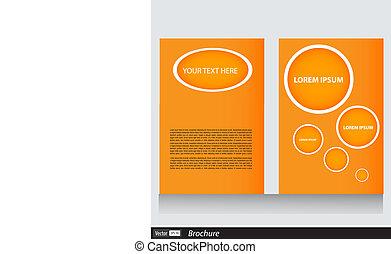 Vector Business Broschüre mit Platz für Text.