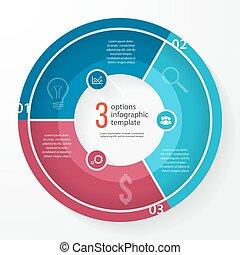 Vector Business Pie Diagramm Kreis infographische Vorlage