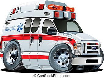 Vector Cartoon Krankenwagen
