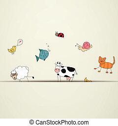 Vector Cartoon Tiere.