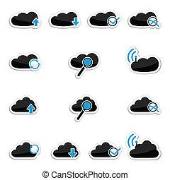 Vector Cloud Computing Icon Set.