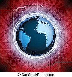 Vector Design mit Weltkugel