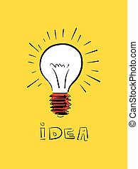 Vector doodle Idee Icon Illustration.